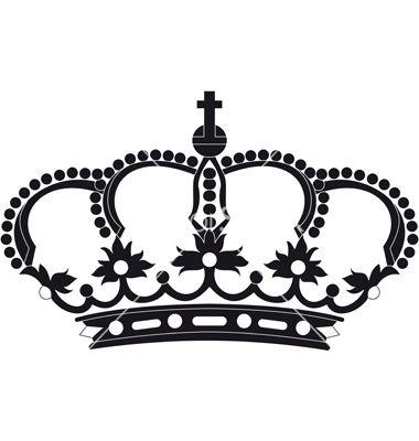 380x400 Regal Crown Vector Art