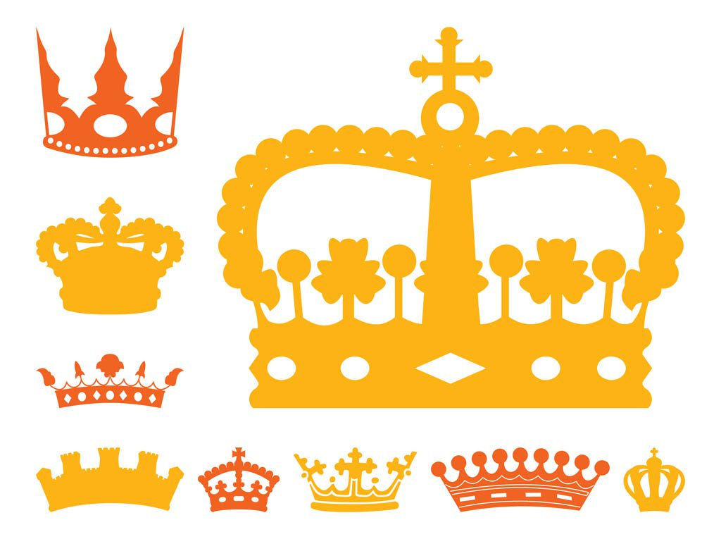 1024x765 Royal Crowns Set Vector Art Amp Graphics