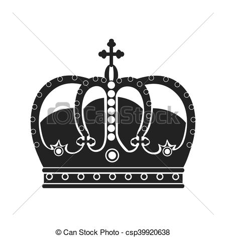450x470 Royal King Crown Over White Background, Vector Illustration Eps10.