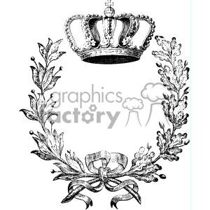 300x300 Royalty Free Vintage Crown And Wreath Vector Vintage 1900 Vector