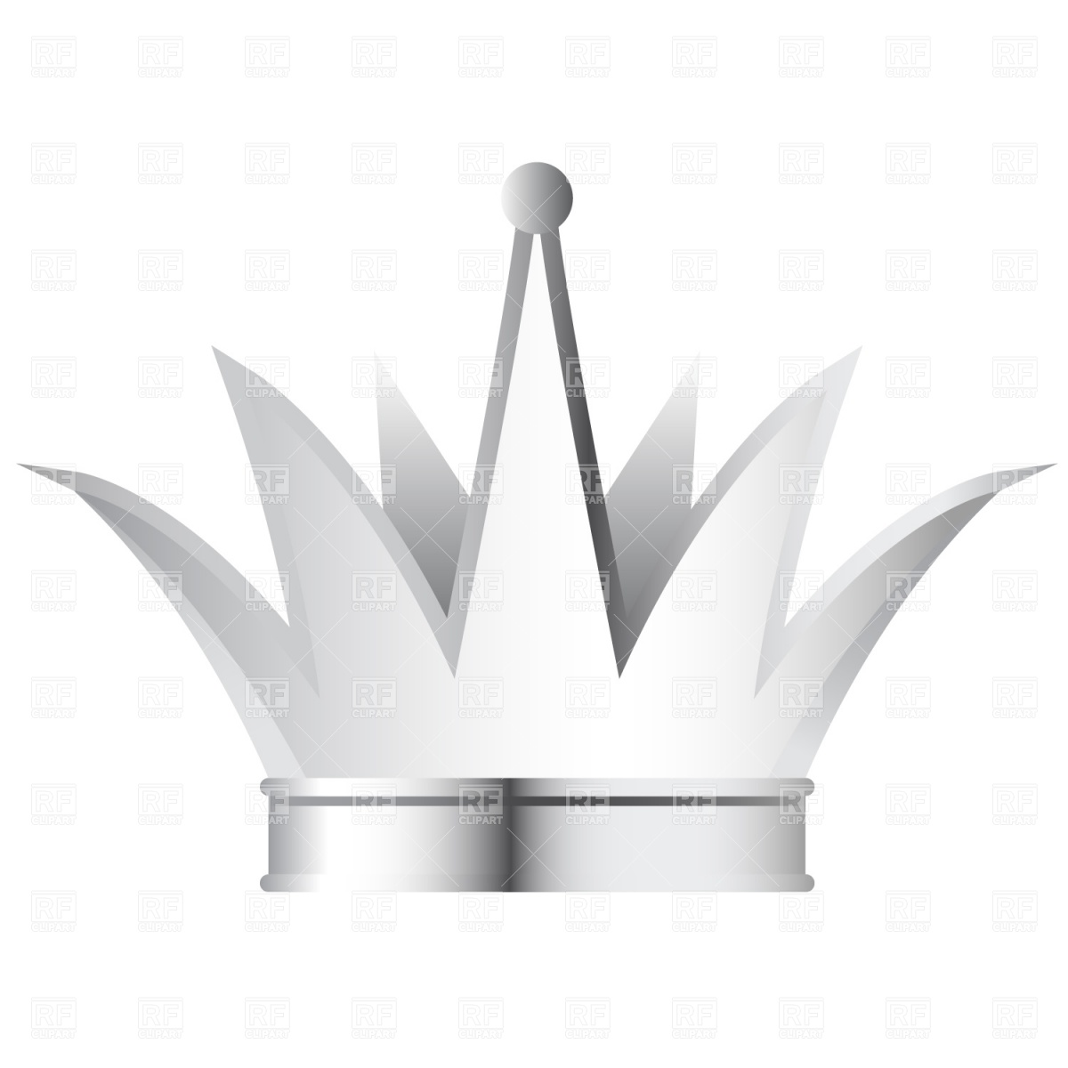 1200x1200 Silver Crown Vector Image Vector Artwork Of Beauty, Fashion