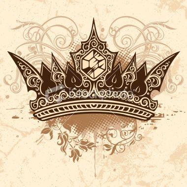 380x380 Crown Royalty Free Stock Vector Art Illustration Tattoo Flash