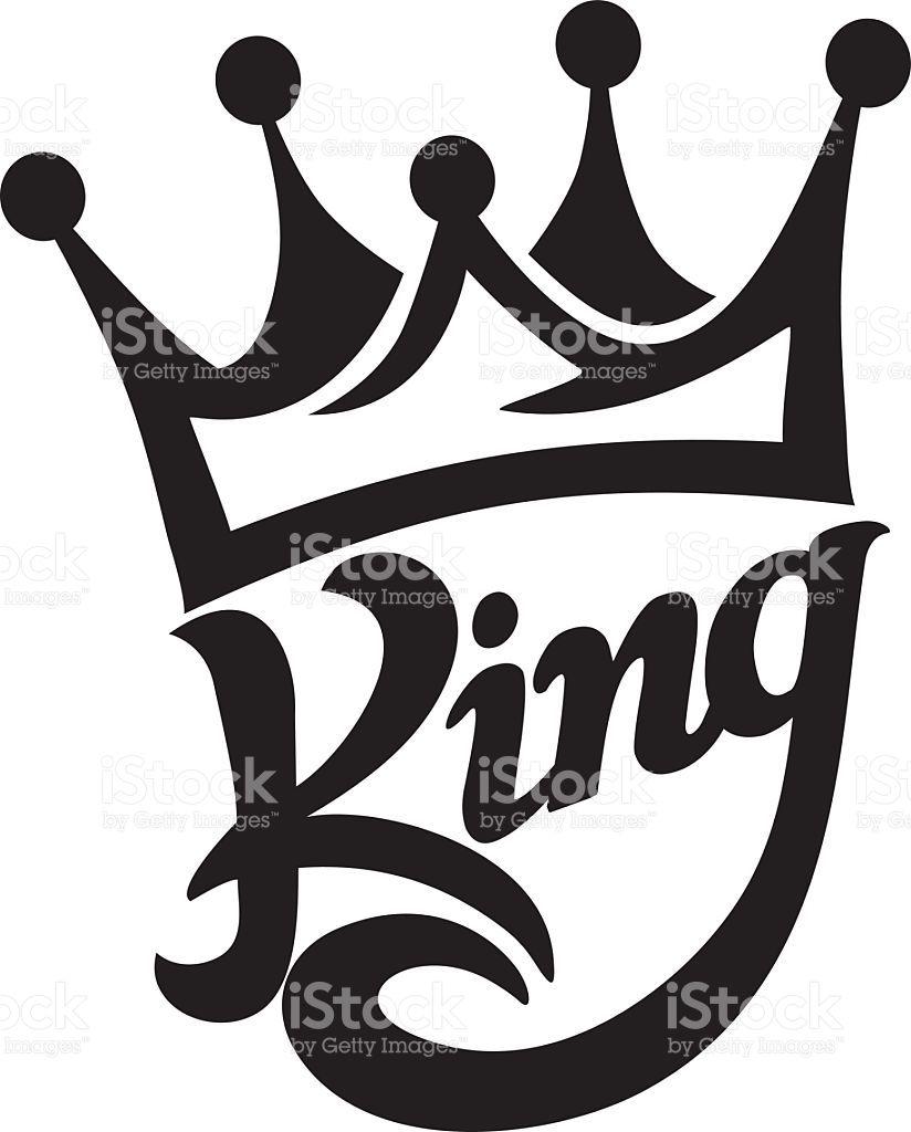 824x1024 Crown King Typography Moda Vector Art, Stenciling