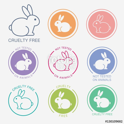 500x500 No Animals Testing Icon Design. Not Tested Sign. Animal Cruelty
