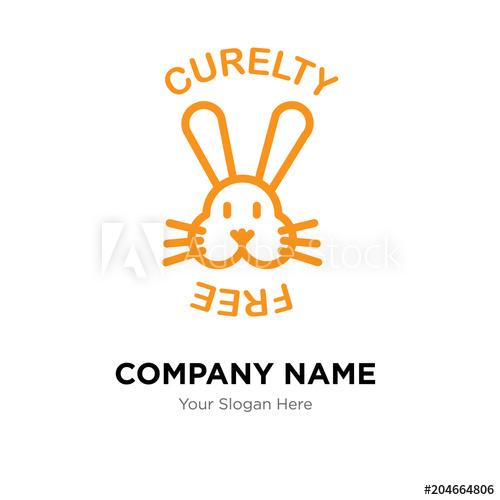500x500 Cruelty Free Company Logo Design Template, Colorful Vector Icon