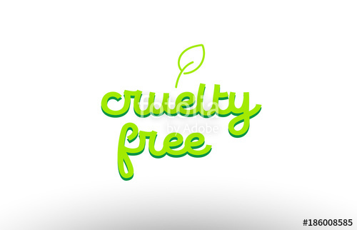 500x322 Cruelty Free Word Concept With Green Leaf Logo Icon Company Design