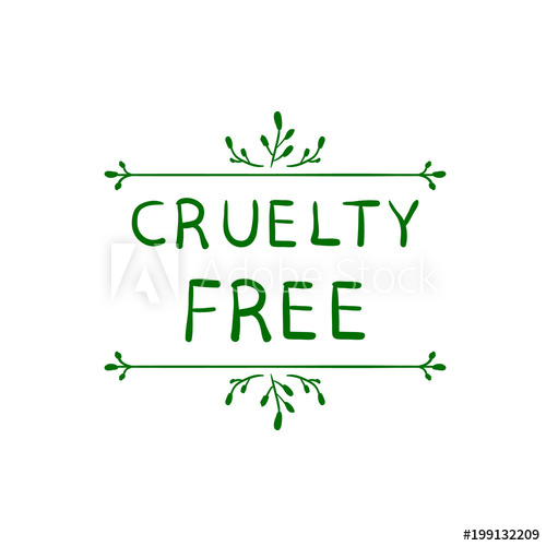 500x500 Cruelty Free Vector Stamp Logo On White Background.