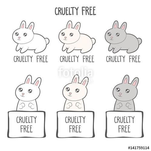 500x500 Cruelty Free Icon Design. No Animals Testing Sign Icon. Product