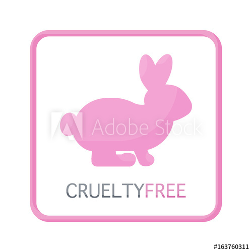 500x500 Cruelty Free Vector Flat Icon,