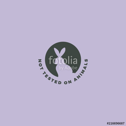 500x500 Animal Cruelty Free Symbol. Rabbit Icon Can Be Used As A Sticker