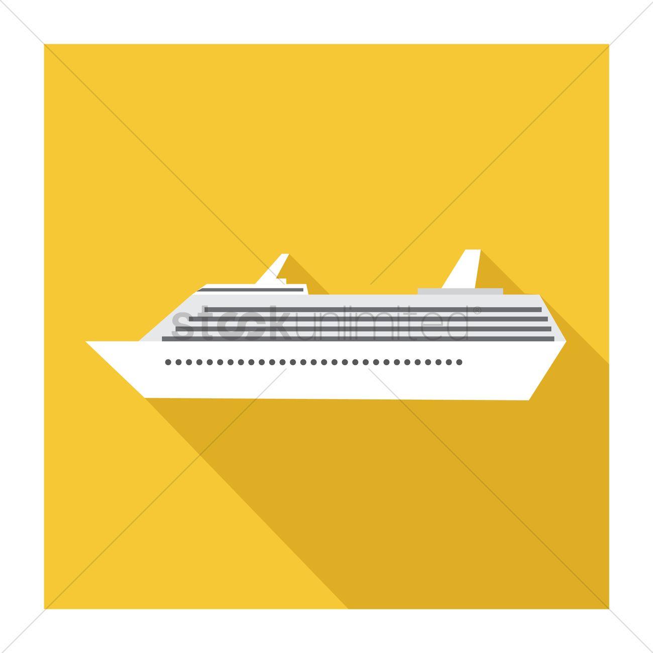 1300x1300 Cruise Ship Vector Image