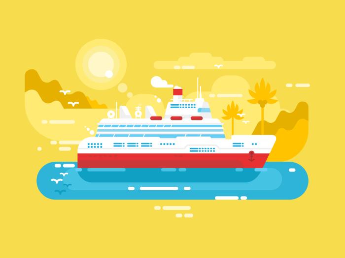 700x525 Cruise Ship Illustration