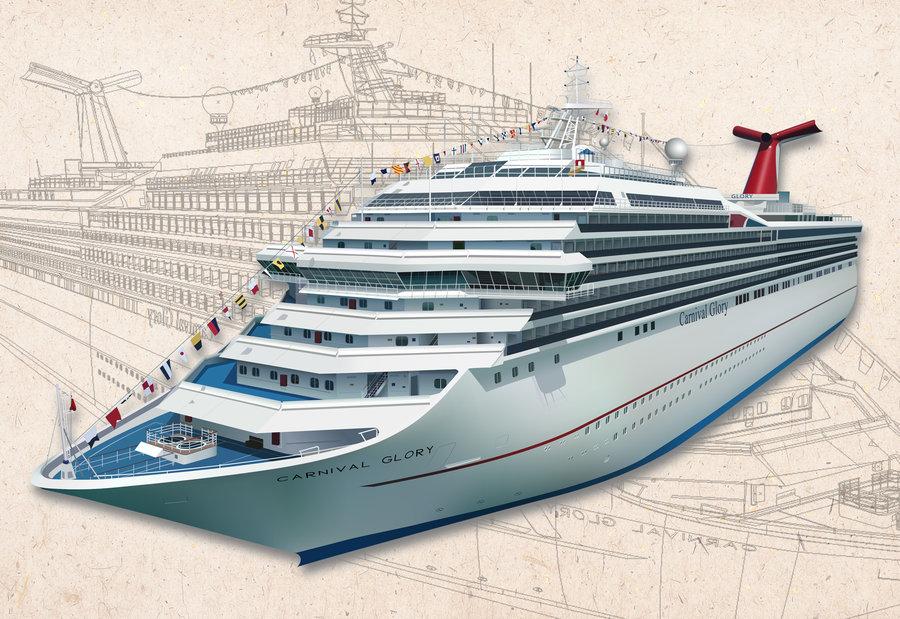 900x619 Carnival Cruise Vector Ship By Luigila