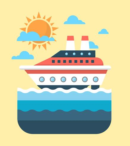 438x490 Flat Cruise Ship