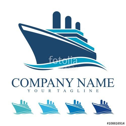 500x500 Ship Logo, Cruise Ship Logo Design Vector Stock Image And Royalty