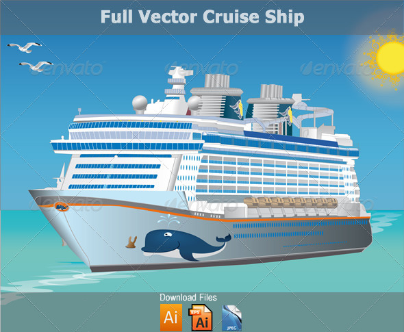 590x485 Vector Cruise Sailing Ship By Cbsnet Graphicriver