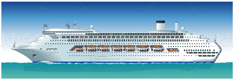 800x274 Vector Hi Detailed Cruise Ship Vector Illustration Mechanik