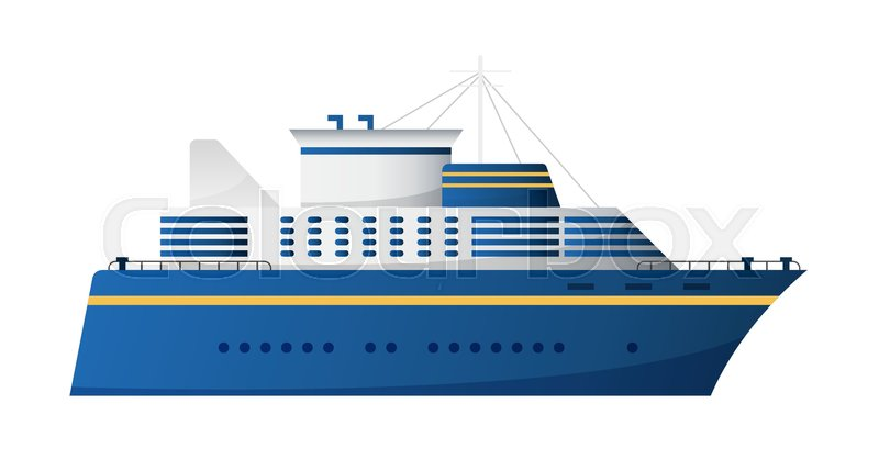 800x429 Vector Seaway And Ocean Water Transport Passenger Ship