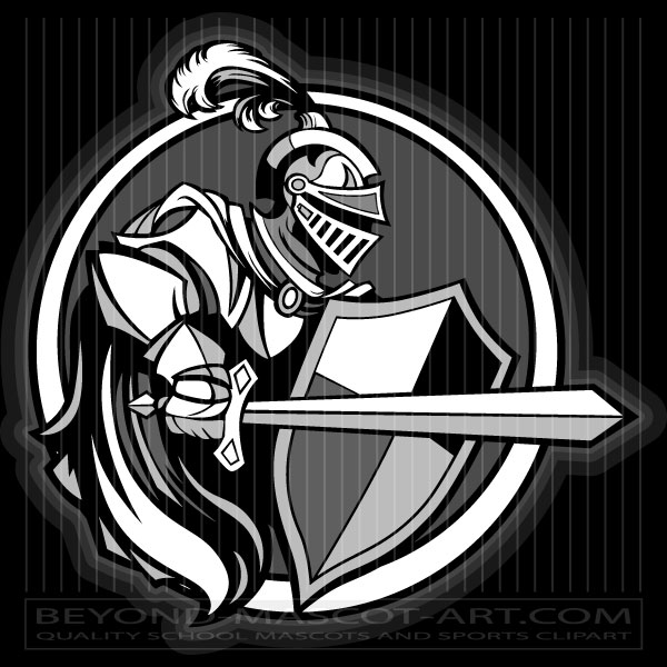 600x600 Crusader Graphic Clipart Graphic Vector Image
