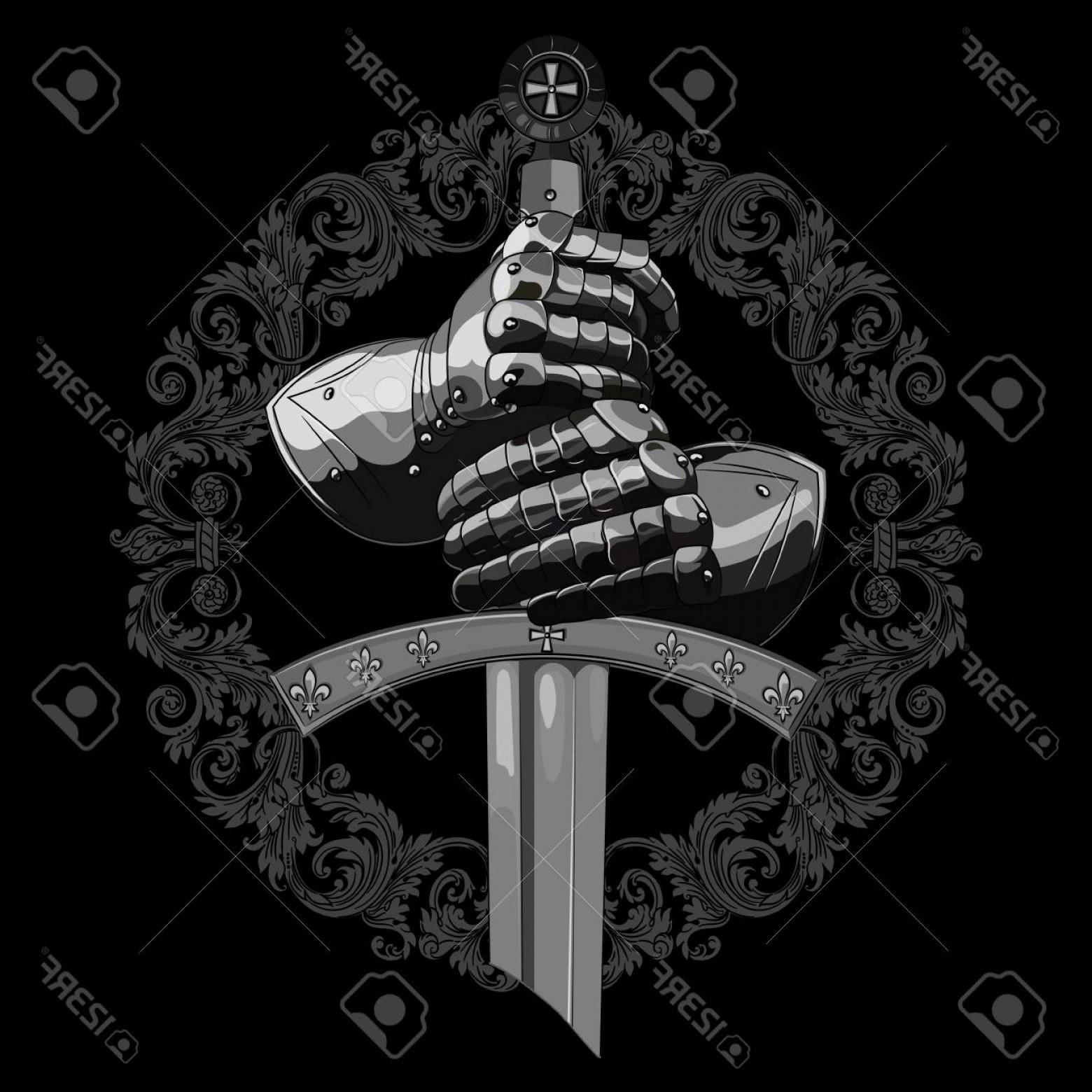 1560x1560 Crusader Vector Black And White Lazttweet