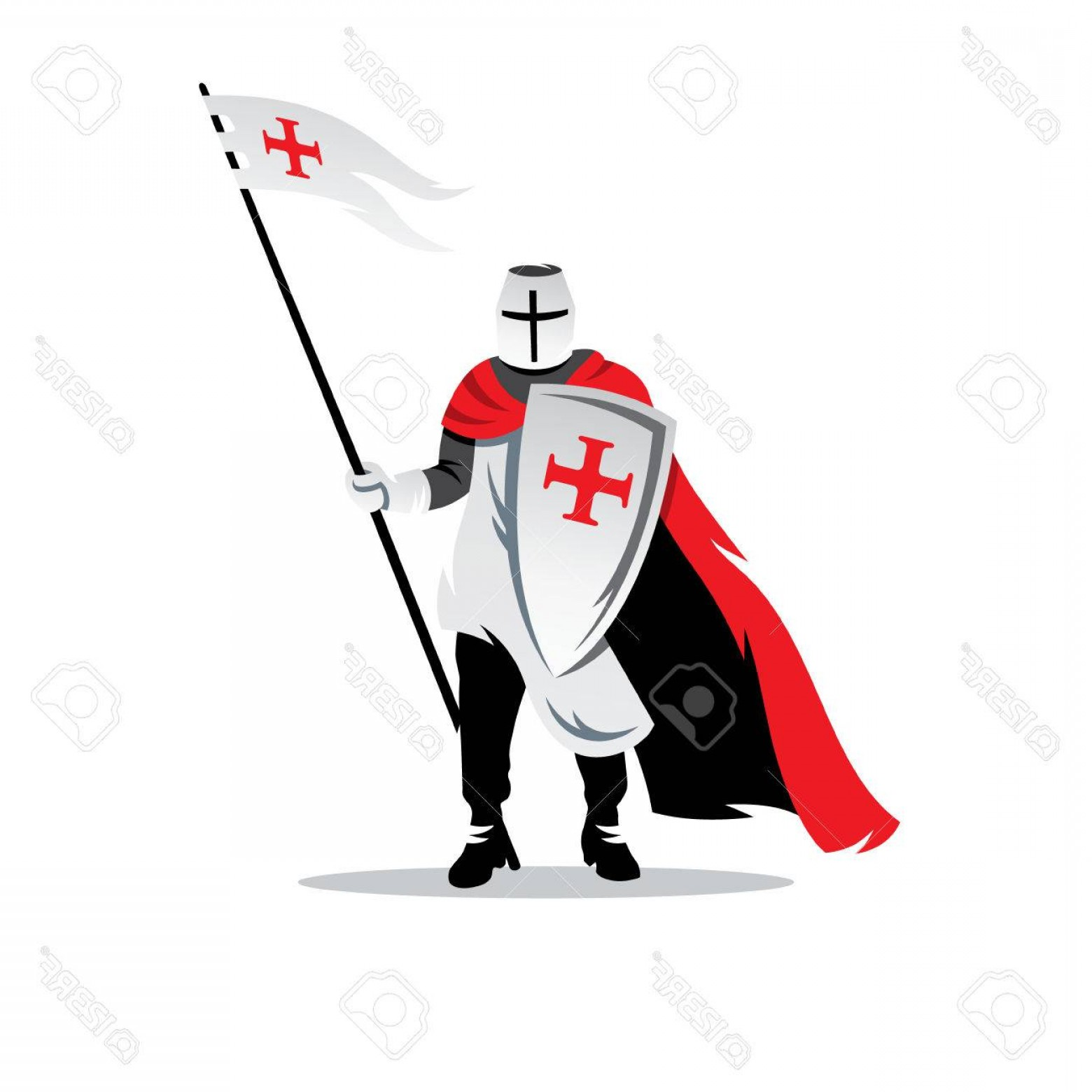 1560x1560 Photostock Vector Crusader Helmet With Spear And Shield Isolated