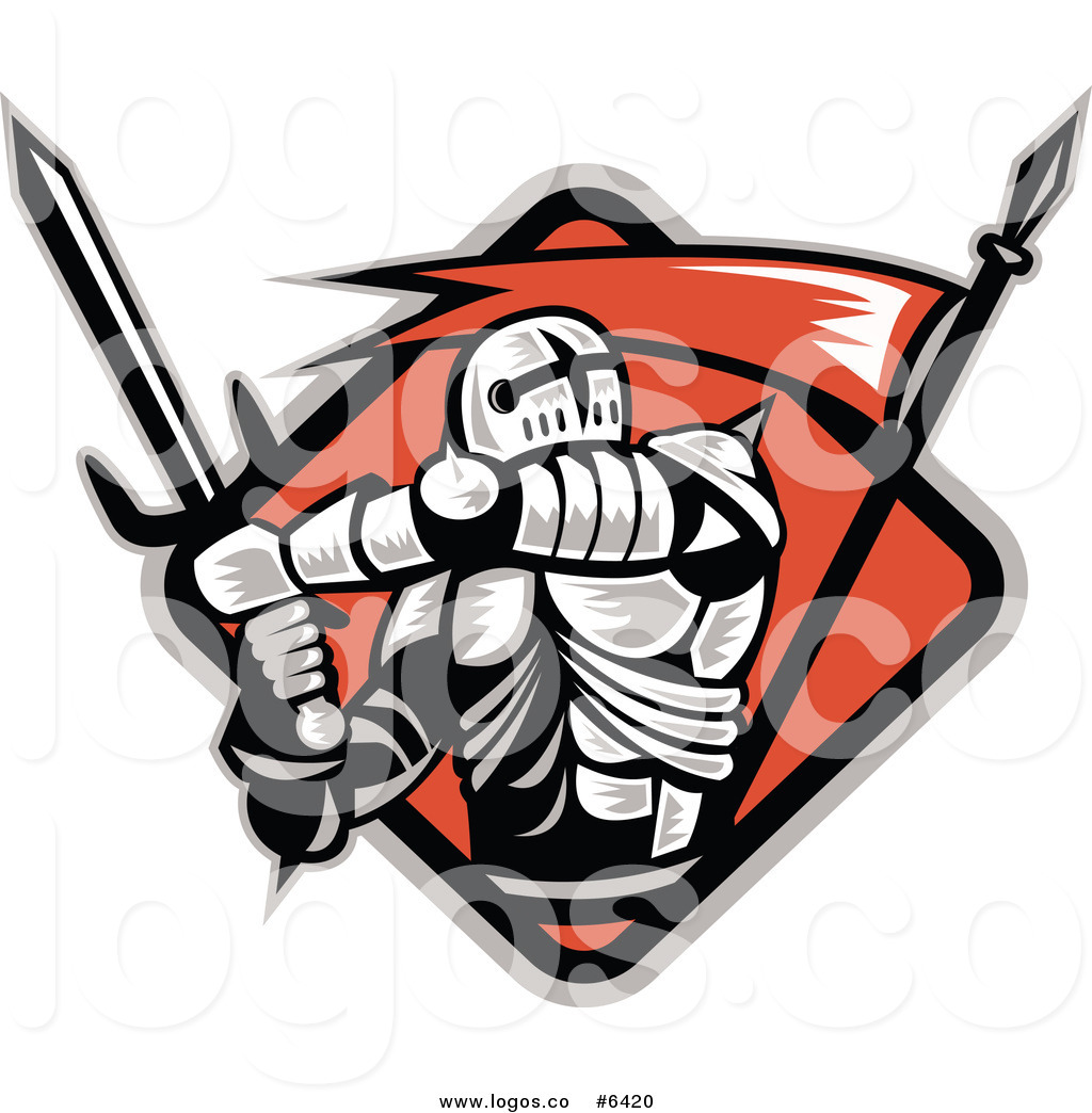 1024x1044 Royalty Free Clip Art Vector Logo Of A Crusader Knight With A