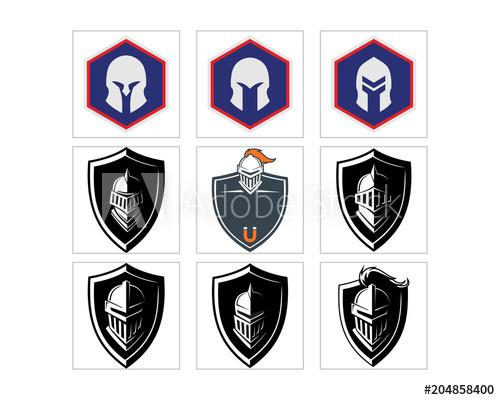 500x400 Knight Headgear Armor Shield Roman Greek Crusader Image Vector Set