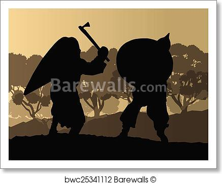 437x364 Art Print Of Medieval Warrior, Crusader Vector Barewalls Posters