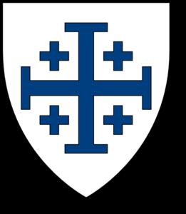261x300 Blue Crusader Cross Clip Art