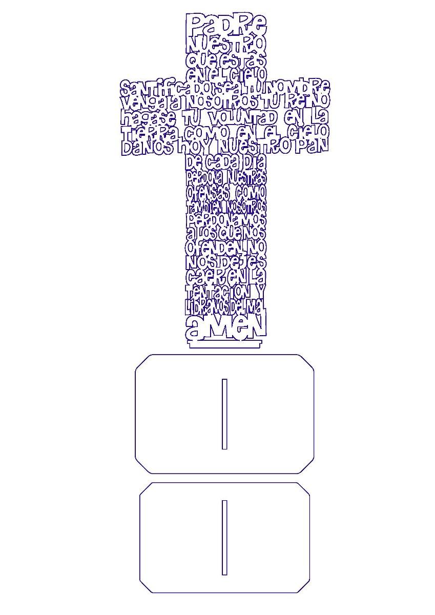 849x1200 Vectores Padre Nuestro En Cruz