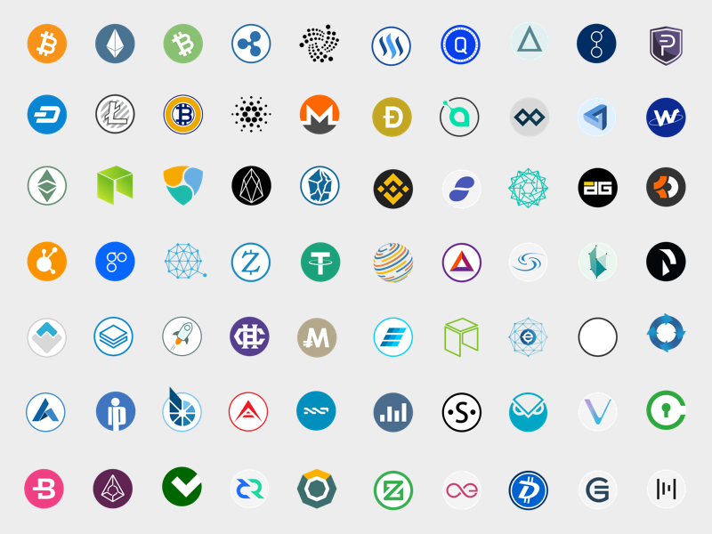 800x600 100 Cryptocurrency Vector Icons Sketch Freebie