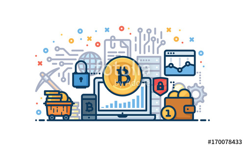 500x300 Cryptocurrency Vector Illustration Stock Image And Royalty Free