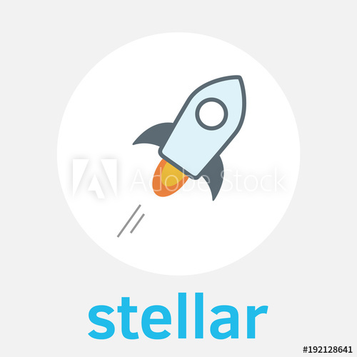 500x500 Stellar (Xlm) Decentralized Blockchain And Cryptocurrency Vector