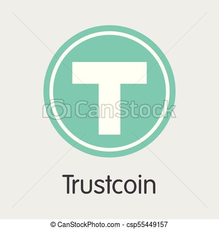 450x470 Trustcoin Blockchain Cryptocurrency. Vector Trst Web Icon