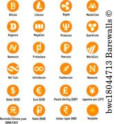 165x179 Art Print Of Cryptocurrency Vector Icons Barewalls Posters