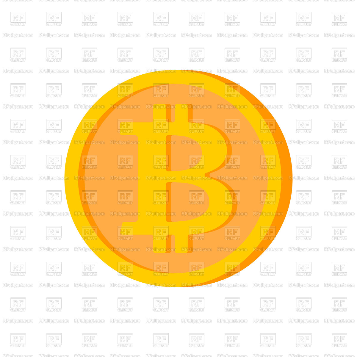 1200x1200 Bitcoin Coin Isolated. Cryptocurrency On White Background. Vector