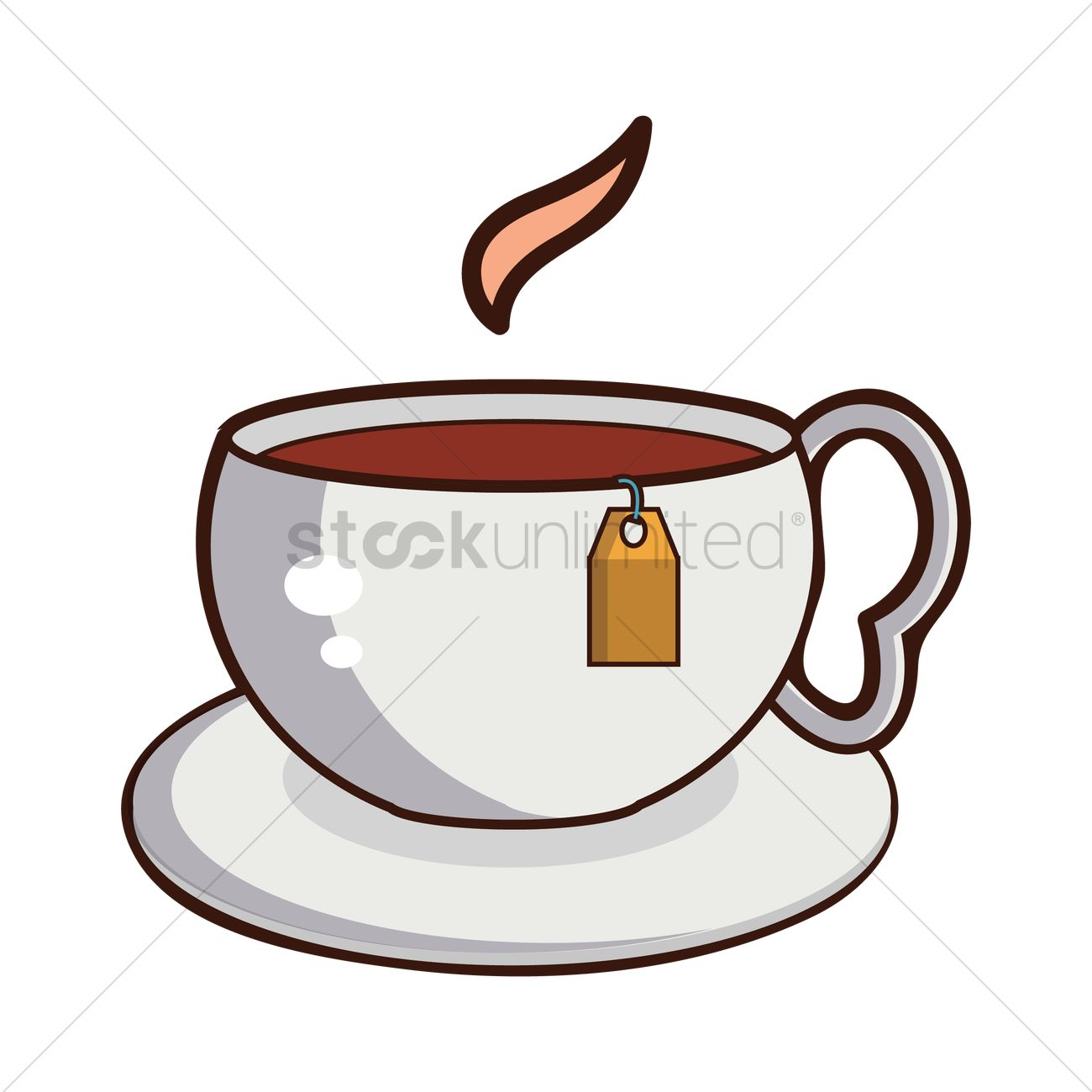 1300x1300 Free Cup Of Hot Tea Vector Image