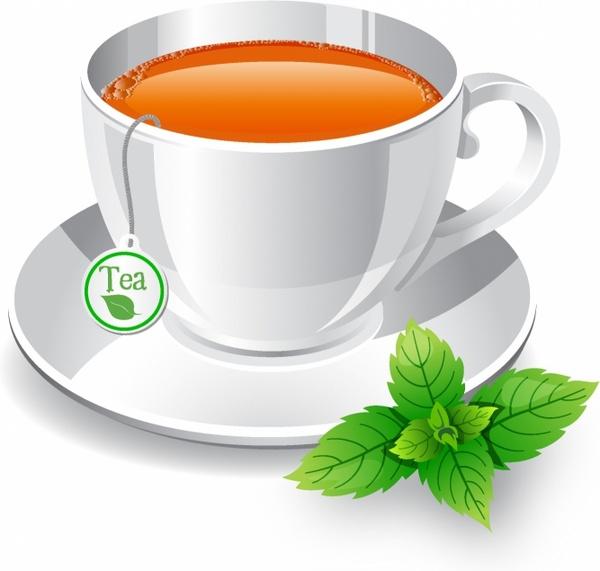 600x571 Tea Cup Free Vector In Adobe Illustrator Ai ( .ai ), Encapsulated
