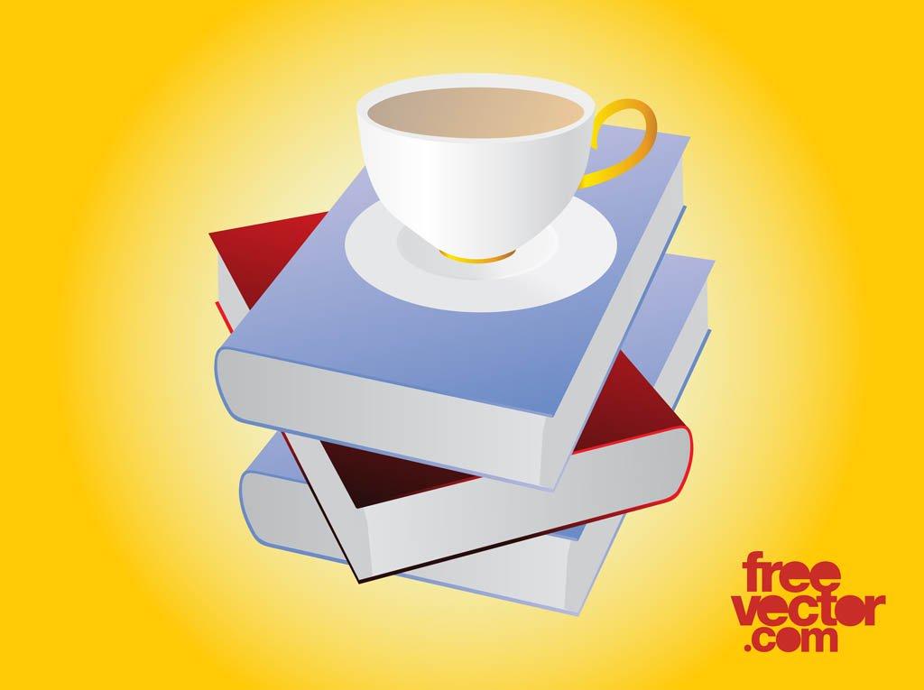 1024x765 Books And Tea Vector Vector Art Amp Graphics