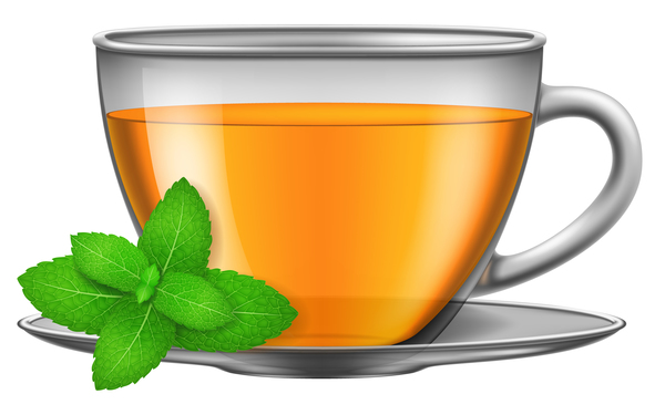 600x375 Tea Mint With Glass Cup Vector Free Download