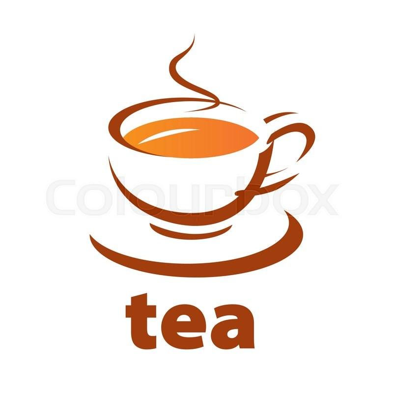 800x800 Vector Logo Contour Cup Of Tea Stock Vector Colourbox