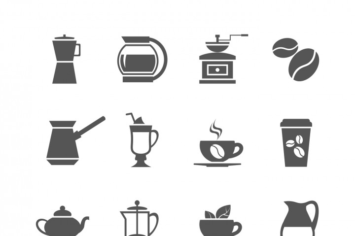 720x479 Coffee Cup And Tea Vector Icons By Microvector