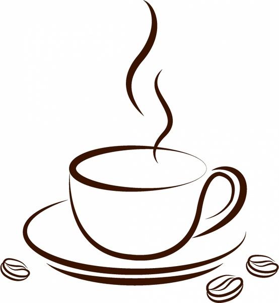 554x600 Cup Of Coffee Free Vector In Adobe Illustrator Ai ( .ai