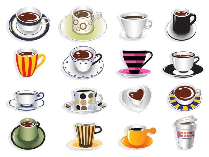676x507 Free Coffee Cup Vector Set Psd Files, Vectors Amp Graphics