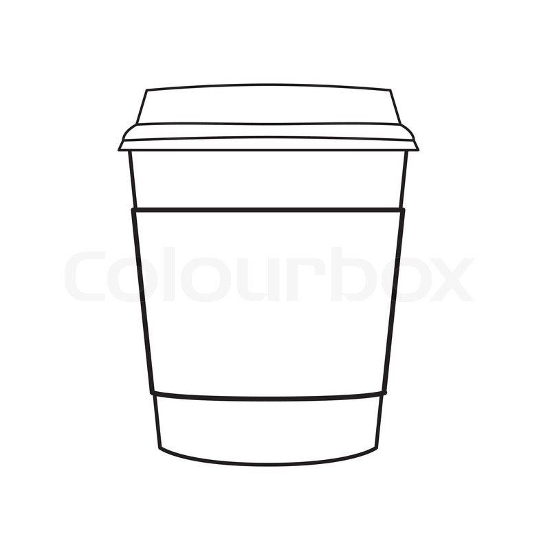 800x800 Image Of Paper Coffee Cup Vector Isolate On White Stock Vector