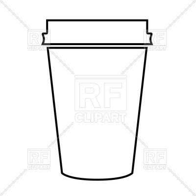 400x400 Outline Of Paper Coffee Cup Vector Image Vector Artwork Of Signs