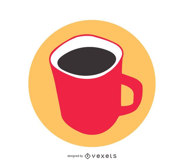 627x570 Red Mug Vector