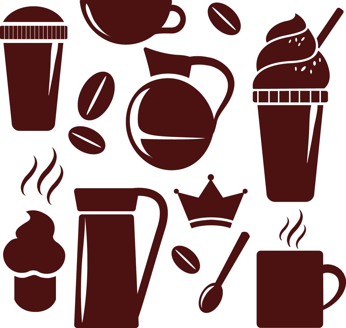 1200x1138 Simple Coffee Cup Elements Vector Free Download