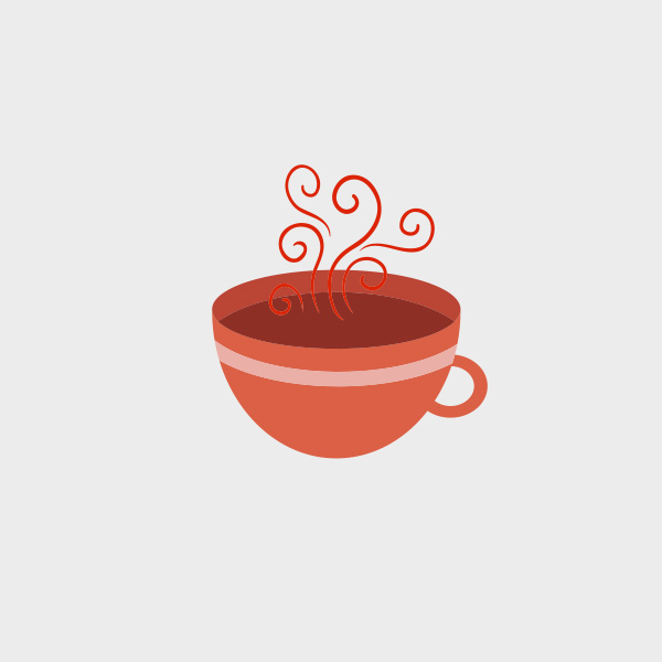 600x600 Vector Tea Cup. Free Vector Of The Day.