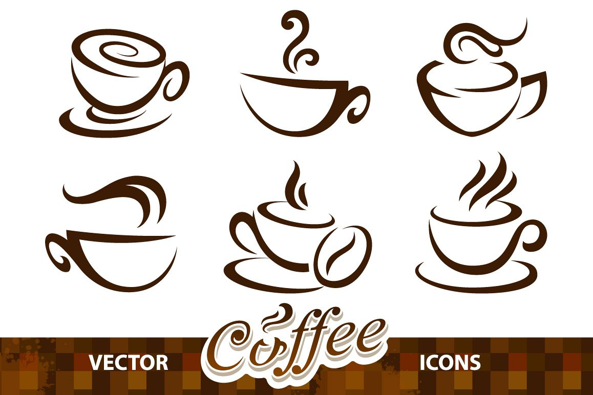 1158x772 Coffee Cup Vector Icons